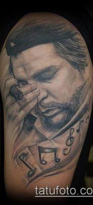 ТАТУИРОВКА ЧЕ ГЕВАРА №315 – достойный вариант рисунка, который хорошо можно использовать для доработки и нанесения как татуировка че гевара