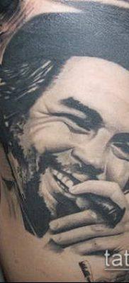 ТАТУИРОВКА ЧЕ ГЕВАРА №920 – эксклюзивный вариант рисунка, который хорошо можно использовать для преобразования и нанесения как татуировка че гевара
