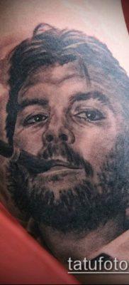 ТАТУИРОВКА ЧЕ ГЕВАРА №81 – классный вариант рисунка, который легко можно использовать для преобразования и нанесения как татуировка че гевара на руке