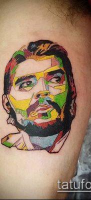 ТАТУИРОВКА ЧЕ ГЕВАРА №39 – крутой вариант рисунка, который легко можно использовать для переработки и нанесения как татуировка че гевара на руке