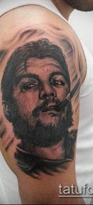 ТАТУИРОВКА ЧЕ ГЕВАРА №506 – интересный вариант рисунка, который удачно можно использовать для преобразования и нанесения как татуировка че гевара на руке