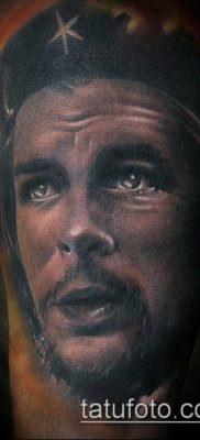ТАТУИРОВКА ЧЕ ГЕВАРА №749 – прикольный вариант рисунка, который удачно можно использовать для переработки и нанесения как татуировка че гевара на руке