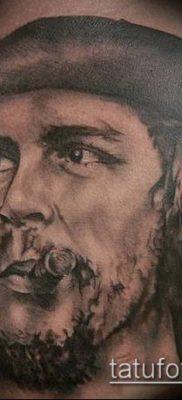 ТАТУИРОВКА ЧЕ ГЕВАРА №866 – уникальный вариант рисунка, который хорошо можно использовать для переделки и нанесения как татуировка че гевара