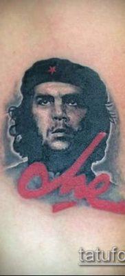 ТАТУИРОВКА ЧЕ ГЕВАРА №416 – интересный вариант рисунка, который удачно можно использовать для преобразования и нанесения как татуировка че гевара
