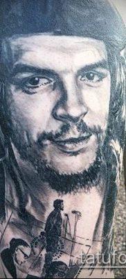 ТАТУИРОВКА ЧЕ ГЕВАРА №964 – крутой вариант рисунка, который успешно можно использовать для переработки и нанесения как татуировка че гевара на руке