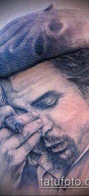 ТАТУИРОВКА ЧЕ ГЕВАРА №363 – прикольный вариант рисунка, который успешно можно использовать для доработки и нанесения как татуировка че гевара на руке