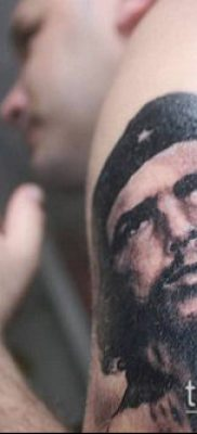 ТАТУИРОВКА ЧЕ ГЕВАРА №520 – достойный вариант рисунка, который легко можно использовать для переработки и нанесения как татуировка че гевара