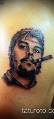 ТАТУИРОВКА ЧЕ ГЕВАРА №502 – достойный вариант рисунка, который легко можно использовать для переделки и нанесения как татуировка че гевара на руке