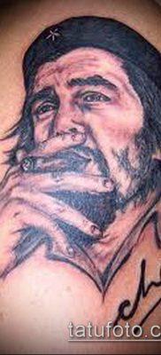 ТАТУИРОВКА ЧЕ ГЕВАРА №478 – эксклюзивный вариант рисунка, который удачно можно использовать для переработки и нанесения как татуировка че гевара на руке