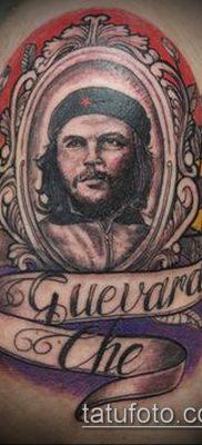 ТАТУИРОВКА ЧЕ ГЕВАРА №762 – достойный вариант рисунка, который удачно можно использовать для преобразования и нанесения как татуировка че гевара на руке