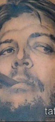 ТАТУИРОВКА ЧЕ ГЕВАРА №122 – уникальный вариант рисунка, который хорошо можно использовать для доработки и нанесения как татуировка че гевара на руке
