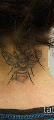 ТАТУИРОВКА ШМЕЛЬ №287 – прикольный вариант рисунка, который успешно можно использовать для переработки и нанесения как татуировка шмель на пальце