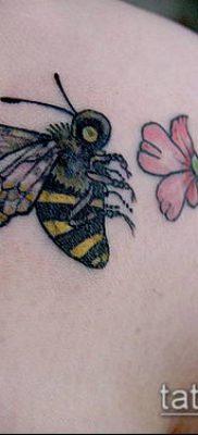 ТАТУИРОВКА ШМЕЛЬ №126 – прикольный вариант рисунка, который хорошо можно использовать для доработки и нанесения как татуировка шмель