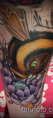 ТАТУИРОВКА ШМЕЛЬ №856 – прикольный вариант рисунка, который удачно можно использовать для доработки и нанесения как татуировка шмель щербинка