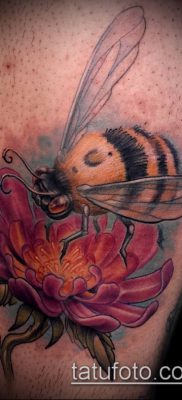 ТАТУИРОВКА ШМЕЛЬ №845 – эксклюзивный вариант рисунка, который удачно можно использовать для преобразования и нанесения как татуировка шмель на пальце