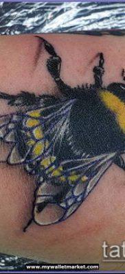 ТАТУИРОВКА ШМЕЛЬ №894 – прикольный вариант рисунка, который легко можно использовать для доработки и нанесения как татуировка шмель на пальце