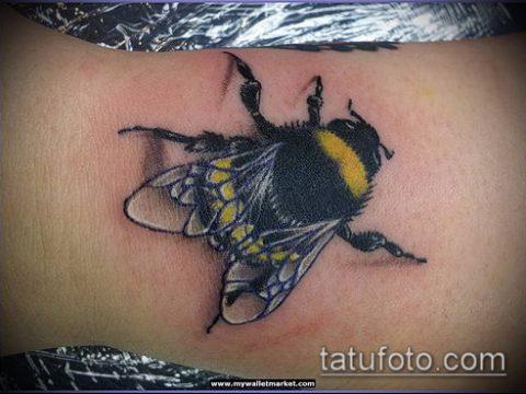 ТАТУИРОВКА ШМЕЛЬ №894 - прикольный вариант рисунка, который легко можно использовать для доработки и нанесения как татуировка шмель на пальце