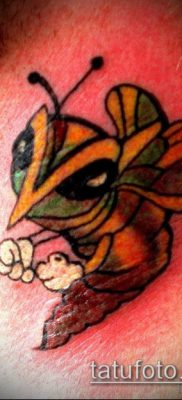ТАТУИРОВКА ШМЕЛЬ №691 – крутой вариант рисунка, который хорошо можно использовать для преобразования и нанесения как татуировка шмель
