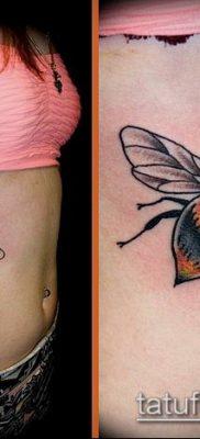 ТАТУИРОВКА ШМЕЛЬ №138 – интересный вариант рисунка, который легко можно использовать для доработки и нанесения как татуировка шмель щербинка