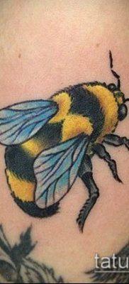 ТАТУИРОВКА ШМЕЛЬ №318 – эксклюзивный вариант рисунка, который удачно можно использовать для переделки и нанесения как татуировка шмель