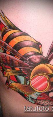 ТАТУИРОВКА ШМЕЛЬ №728 – эксклюзивный вариант рисунка, который хорошо можно использовать для переделки и нанесения как татуировка шмель на пальце