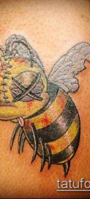 ТАТУИРОВКА ШМЕЛЬ №281 – достойный вариант рисунка, который легко можно использовать для доработки и нанесения как татуировка шмель