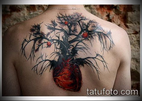 ТАТУИРОВКА ЯБЛОНЯ №507 - крутой вариант рисунка, который хорошо можно использовать для доработки и нанесения как тату яблоня
