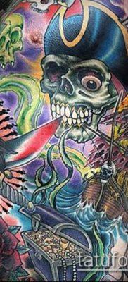 ТАТУИРОВКИ НЬЮ СКУЛ №360 – уникальный вариант рисунка, который успешно можно использовать для переработки и нанесения как тату нью скул реализм