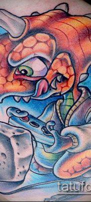 ТАТУИРОВКИ НЬЮ СКУЛ №914 – уникальный вариант рисунка, который легко можно использовать для доработки и нанесения как тату в стиле нью скул