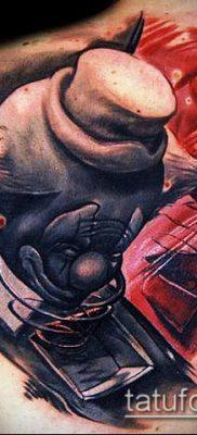 ТАТУИРОВКИ НЬЮ СКУЛ №601 – достойный вариант рисунка, который удачно можно использовать для переделки и нанесения как татуировки нью скул