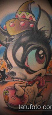 ТАТУИРОВКИ НЬЮ СКУЛ №937 – интересный вариант рисунка, который успешно можно использовать для преобразования и нанесения как тату нью скул волк