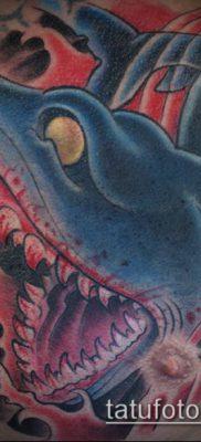 ТАТУИРОВКИ НЬЮ СКУЛ №329 – уникальный вариант рисунка, который удачно можно использовать для доработки и нанесения как тату нью скул волк