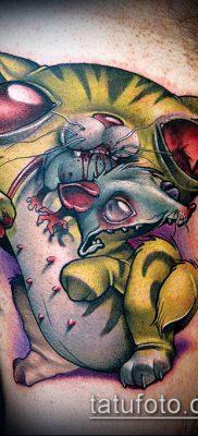 ТАТУИРОВКИ НЬЮ СКУЛ №259 – крутой вариант рисунка, который легко можно использовать для доработки и нанесения как тату нью скул волк