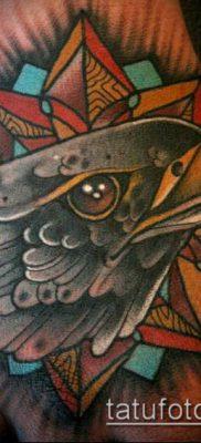 ТАТУИРОВКИ НЬЮ СКУЛ №914 – классный вариант рисунка, который легко можно использовать для доработки и нанесения как тату нью скул розы