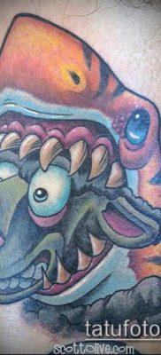 ТАТУИРОВКИ НЬЮ СКУЛ №551 – классный вариант рисунка, который хорошо можно использовать для переделки и нанесения как тату нью скул реализм