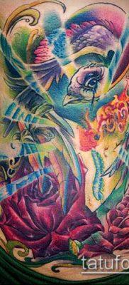 ТАТУИРОВКИ НЬЮ СКУЛ №158 – уникальный вариант рисунка, который легко можно использовать для переработки и нанесения как тату нью скул розы