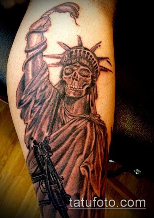 Тату Статуя Свободы, выбираем стиль и любуемся фото 61