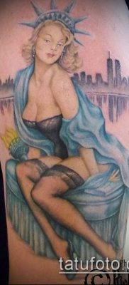 фото ТАТУ СТАТУЯ СВОБОДЫ (Tattoo) (значение) – пример рисунка – 010 tatufoto.com