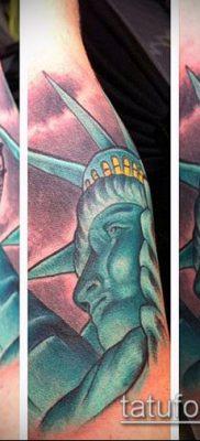 фото ТАТУ СТАТУЯ СВОБОДЫ (Tattoo) (значение) – пример рисунка – 023 tatufoto.com