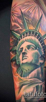 фото ТАТУ СТАТУЯ СВОБОДЫ (Tattoo) (значение) – пример рисунка – 027 tatufoto.com