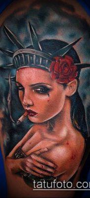 фото ТАТУ СТАТУЯ СВОБОДЫ (Tattoo) (значение) – пример рисунка – 047 tatufoto.com