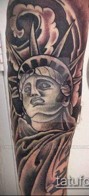 фото ТАТУ СТАТУЯ СВОБОДЫ (Tattoo) (значение) – пример рисунка – 052 tatufoto.com
