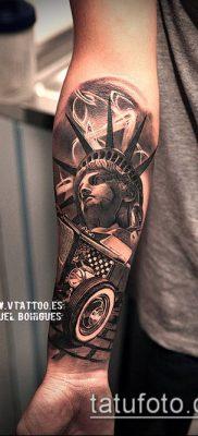 фото ТАТУ СТАТУЯ СВОБОДЫ (Tattoo) (значение) – пример рисунка – 080 tatufoto.com