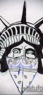 фото ТАТУ СТАТУЯ СВОБОДЫ (Tattoo) (значение) – пример рисунка – 081 tatufoto.com