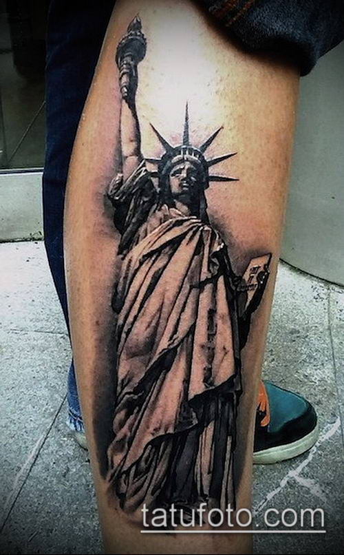 Статуя свободы тату