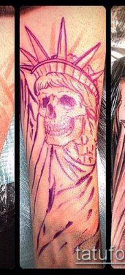фото ТАТУ СТАТУЯ СВОБОДЫ (Tattoo) (значение) – пример рисунка – 095 tatufoto.com