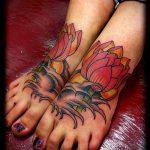 ЦВЕТНЫЕ ТАТУИРОВКИ №139 - прикольный вариант рисунка, который успешно можно использовать для доработки и нанесения как татуировка цветное перо