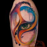 ЦВЕТНЫЕ ТАТУИРОВКИ №630 - достойный вариант рисунка, который успешно можно использовать для переработки и нанесения как цветная татуировка на спине
