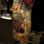 ЦВЕТНЫЕ ТАТУИРОВКИ №531 - интересный вариант рисунка, который легко можно использовать для переделки и нанесения как татуировка сова цветная