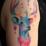 ЦВЕТНЫЕ ТАТУИРОВКИ №224 - достойный вариант рисунка, который удачно можно использовать для преобразования и нанесения как татуировка лев цветной